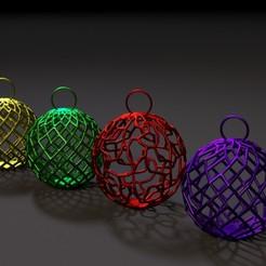 00002.jpg Download STL file Christmas decoration ball • 3D printer model, zalesov