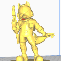 Download free OBJ file Fox • 3D printer model, TerraKevin