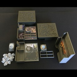 Download 3D printing designs Mage Knight organizers, Part 3: Hero organizers, Salomea