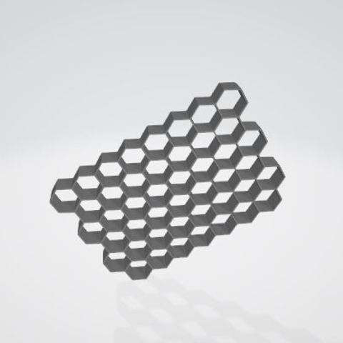 Download 3D printer templates Honeycomb cookie cutter, pablonicolasm