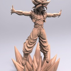 Download 3D printing templates Trunks - Dragon Ball Z for 3D print model, Ignacioabusto