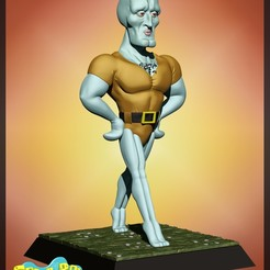 calamardo.jpg Download STL file handsome squidward, spongebob - 3d print model • Model to 3D print, Ignacioabusto
