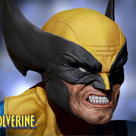 Download 3D printer designs Wolverine bust 3d print, Ignacioabusto