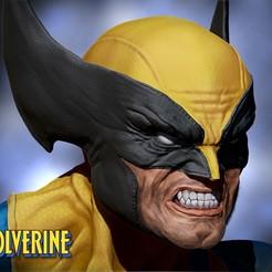 Descargar STL Wolverine bust 3d print, Ignacioabusto
