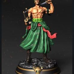 zoro.jpg Download STL file Roronoa Zoro - One Piece for 3d print model • 3D printable model, Ignacioabusto