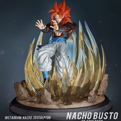 Download STL file Gogeta ss4 3d print, Ignacioabusto