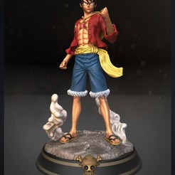 01luffy vertical.jpg Download STL file Luffy - One Piece for 3d print model • 3D printing design, Ignacioabusto