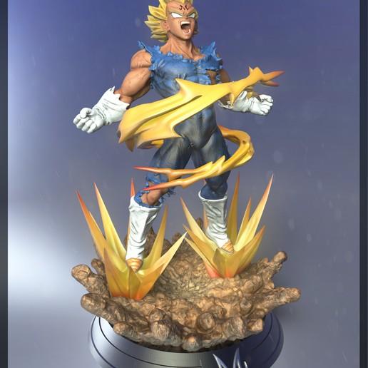 Impresiones 3D Majin vegeta dragon ball z - 3d print model, Ignacioabusto