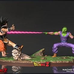 diorama.jpg Télécharger fichier STL Goku & Piccolo vs. Raditz - Dragon Ball Z • Design à imprimer en 3D, Ignacioabusto