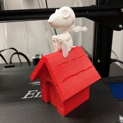 Download free 3D print files Pilot Snoopy - Red Baron Figure, caddguy6