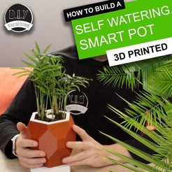 Free STL file Automatic Smart Plant Pot - (DIY, 3D Printed, Arduino, Self Watering, Project), DIYMachines