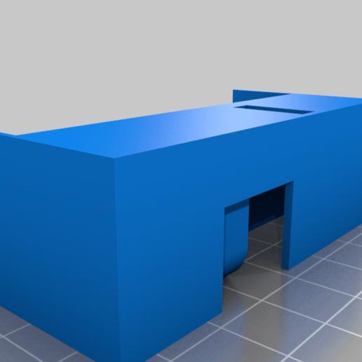 Y-Servo-Housing.png Télécharger fichier STL gratuit Machine à dessiner CNC facile à imprimer en 3D - Dessinez sur des gâteaux, des téléphones, du papier, des chemises   Traceur Arduino GRBL • Modèle pour imprimante 3D, DIYMachines