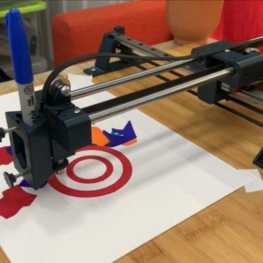 IMG_2608.jpg Télécharger fichier STL gratuit Machine à dessiner CNC facile à imprimer en 3D - Dessinez sur des gâteaux, des téléphones, du papier, des chemises   Traceur Arduino GRBL • Modèle pour imprimante 3D, DIYMachines