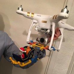 Free STL files Phantom drone k'nex attachment., DIYMachines