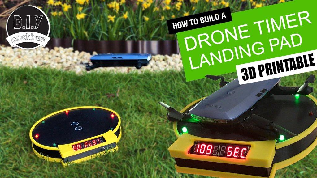 e8559c05ff3dceaa7c13f7526a834211_display_large.jpg Télécharger fichier STL gratuit Drone Landing Pad avec système de chronométrage Arduino • Plan pour imprimante 3D, DIYMachines