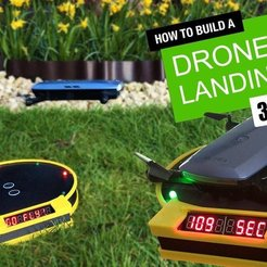 Download free 3D printing designs Drone Landing Pad with Arduino Timing System, DIYMachines