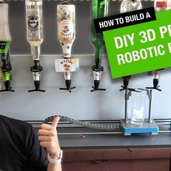 Download free 3D printer designs Robotic Bartender, DIYMachines