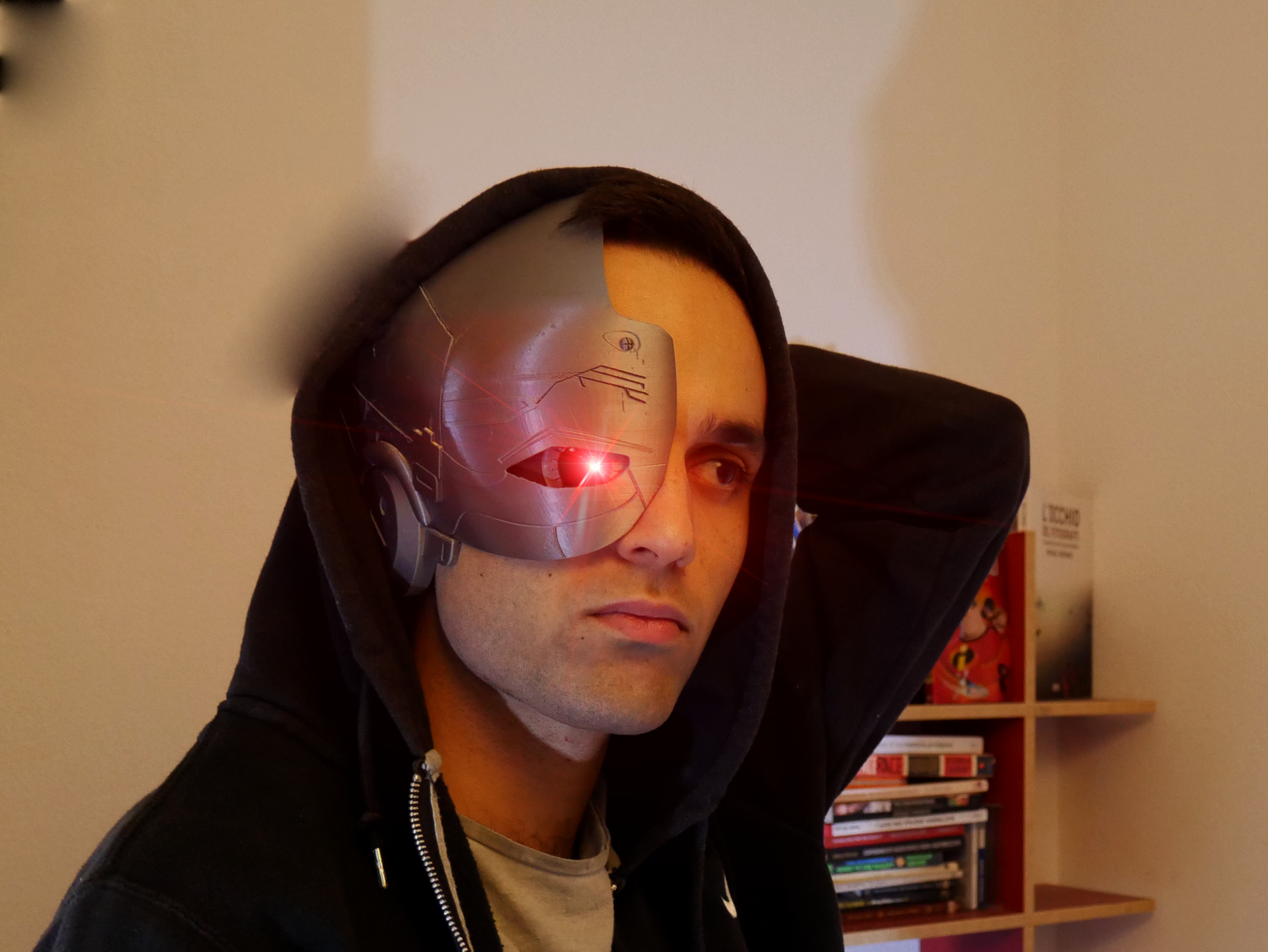 Download 3d Printing Designs Cyborg Cybernetic Head Piece Doom