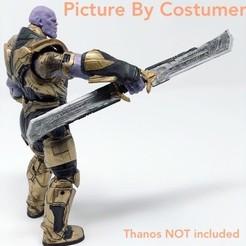 Télécharger fichier impression 3D Thanos Sword EndGame Cosplay prop et Actionfigure 3D model 3D print model, MarcoMota3DPrints