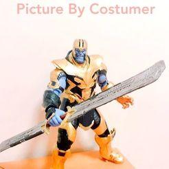 Download 3D printer templates Thanos Sword EndGame Cosplay prop and Actionfigure 3D model 3D print model, MarcoMota3DPrints