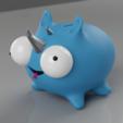 Descargar STL MiniRhino y MiniRhino Bank, MarcoMota3DPrints