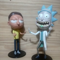 Download 3D printing models Rick Sanchez from Rick and Morty., alesebamedi