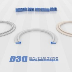 Download free 3D printing designs Rubber Seal for Fan Hole 38mmᶲ, darkwave3d