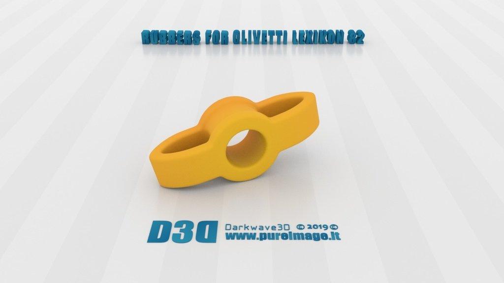 729e8387f203424a65cc05399e2835ab_display_large.jpg Download free STL file Olivetti Lexikon 82 Rubber Spare_Parts • 3D printer design, darkwave3d