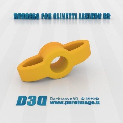 Télécharger fichier impression 3D gratuit Olivetti Lexikon 82 Caoutchouc Pièces de rechange, darkwave3d