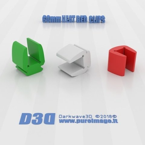 Download free 3D printing files Mini Clips for 60mm Heat Bed, darkwave3d