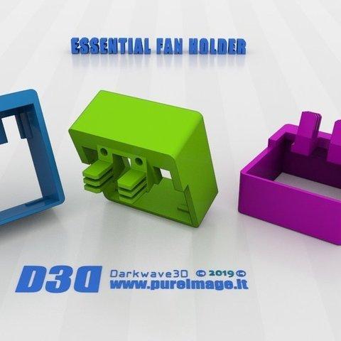 Download free STL files ESSENTIAL 40mm FAN HOLDER, darkwave3d