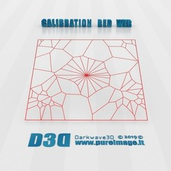Download free 3D printer designs Calibration Bed Web, darkwave3d
