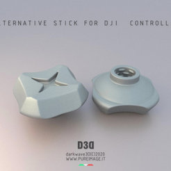 Download 3D printer designs Cinematic Stick For DJI Controller, darkwave3d