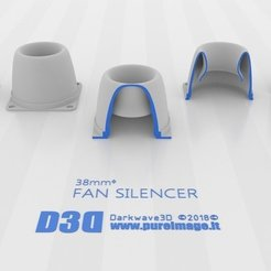 Download free 3D printing designs Fan Silencer_V1 40mm - 38mmᶲ, darkwave3d