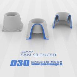 68d9ab954324957a8b227af23bc95e9d_display_large.jpg Télécharger fichier STL gratuit Silencieux de ventilateur_V1 40mm - 38mmᶲ • Design pour impression 3D, darkwave3d