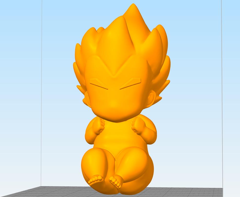 Sin título.png Télécharger fichier OBJ gratuit Vegeta bebe bébé • Design imprimable en 3D, Manuela95