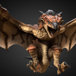 Descargar modelo 3D gratis Rathalos Monster Hunter, Manuela95