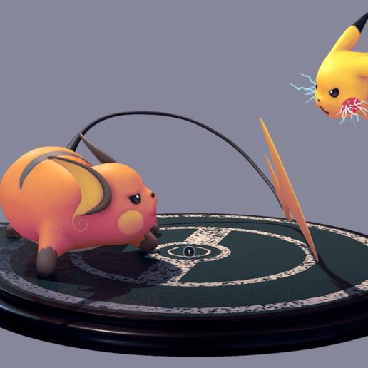 Download free 3D printer files Pikachu and Raichu, Manuela95