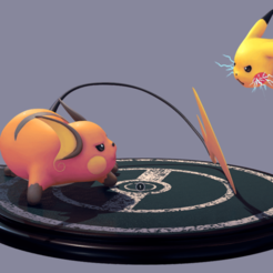 Download free 3D printer files Pikachu and Raichu, Manuela95
