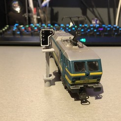 Download 3D printing models Signal SNCB HO 1/87 with 1.8mm rework led, ramoucho