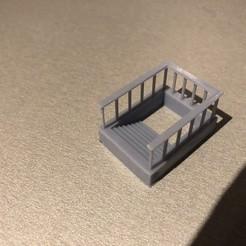 Photo 17-01-20 19 07 32.jpg Télécharger fichier STL Escalier de passage sous voie pour quai HO 1/87 • Objet imprimable en 3D, ramoucho