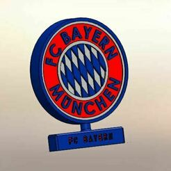 01.JPG Download STL file Bayern Munich, Desk Ornament • 3D printable design, LuisCrown