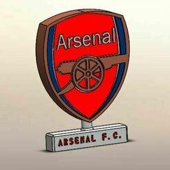 01.JPG Download STL file Arsenal, Desk Ornament • 3D print design, LuisCrown