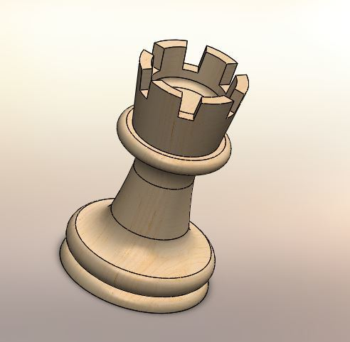 02.JPG Download STL file Classical chess • 3D printing object, LuisCrown