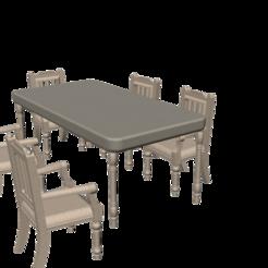 Impresiones 3D silla de mesa de juguete para niños, arpmurat