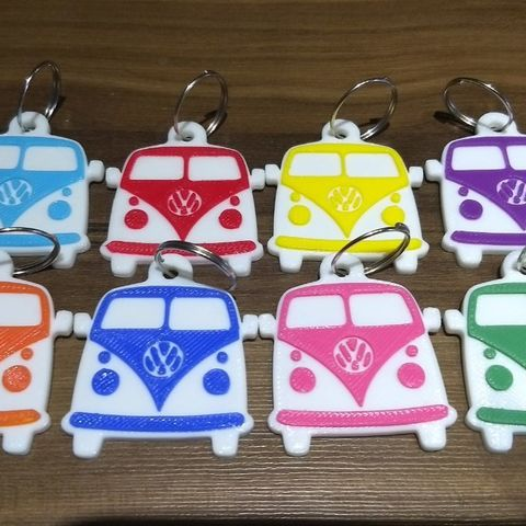 Download STL file Key chain Kombi Ws van, happens