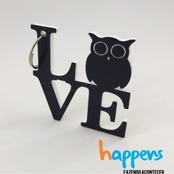 Download 3D printing templates love owl, happens