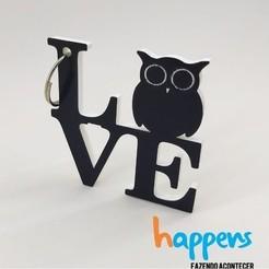 STL files love owl, happens