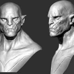 Download 3D printer designs Azog Bust, brkhy