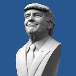 Download OBJ file Donald Trump Bust • 3D printable design, brkhy